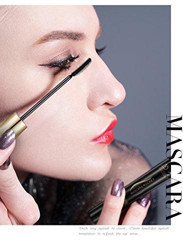 Crème de mascara waterproof, Yiitay Long Curling Mascara Maquillage Cils Eye Lashes Extension Mascara Yeux Noir Extension de Cils Fou Long Style
