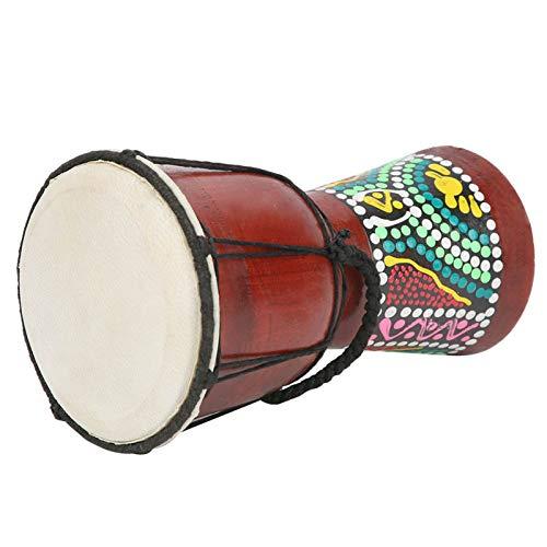Tambor africano de mano, tambor djembé hecho a mano pintado a mano,...