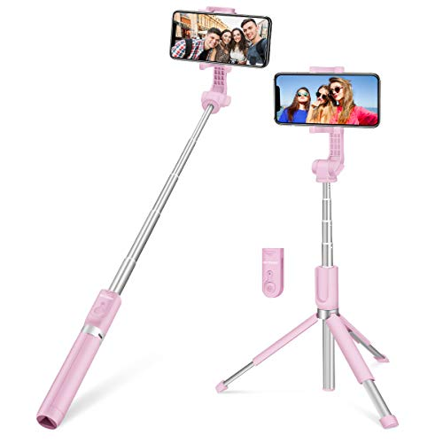 Bastone Selfie Treppiede, BlitzWolf 90cm Selfie Stick bluetooth Allungabile Otturatore Remoto per iPhone X 8 7 /Samsung Galaxy S9 S8 Plus, Altri Smartphone da 3,5-6,0 Pollici (Versione Estesa)