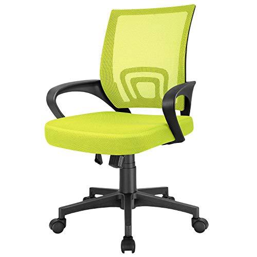 Furmax Mesh Computer Desk Swivel Ergonomic Lumbar Support Home Office Task Chair, Green