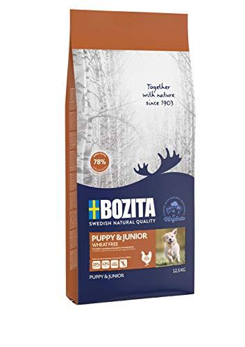 BOZITA Puppy & Junior Weizenfrei Hundefutter für Welpen - 12.5 kg - nachhaltig produziertes Trockenfutter für Welpen, Junghunde und laktierende Hündinnen - Alleinfuttermittel - Welpenfutter