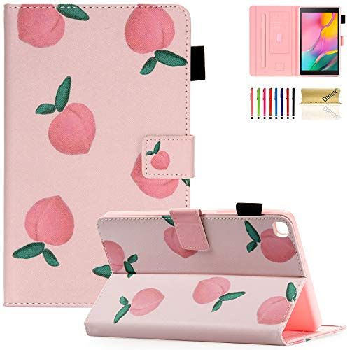 Galaxy Tab A 8.0 inch Case, T290 T295 T297 Case, Dteck PU Leather Folio Multi-Angle Viewing Full Body Protection Case for Samsung Galaxy Tab A 8.0 inch 2019 Release Model T290 T295 T297,Pink Peach