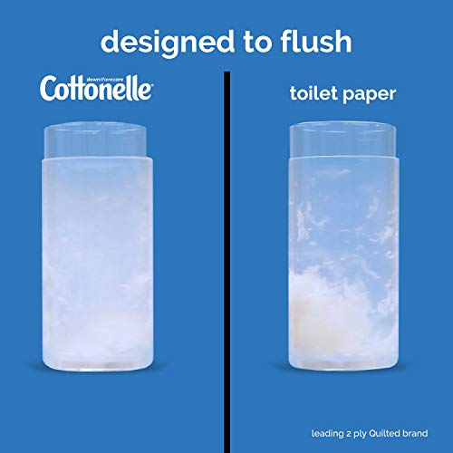 Cottonelle FreshFeel Flushable Wet Wipes for Adults, 8 Flip-Top Packs, 42 Wipes per Pack (336 Wipes Total)