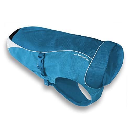 Kurgo North Country Dog Coat, Dog Winter Jacket, Waterproof Dog Jacket, Dog Snow Jacket and Windproof Dog Coat, Reflective Dog Fleece, Coastal Blue, Medium