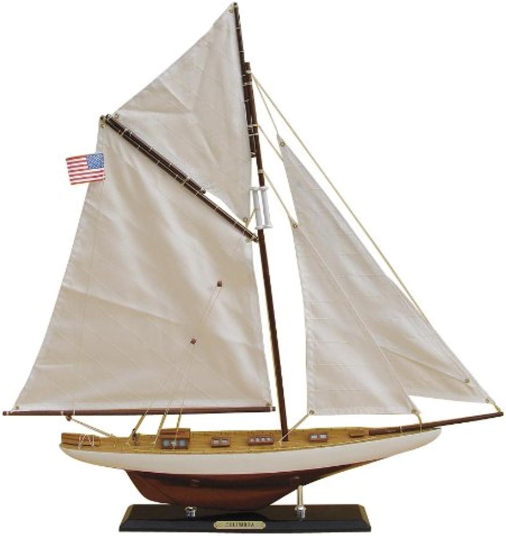 Segel-Yacht COLUMBIA,Holz mit Stoffsegel,L 59 cm, H 60 cm