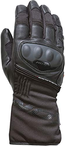 IXON Pro Rescue - Guantes de piel para motociclista, color negro, XL