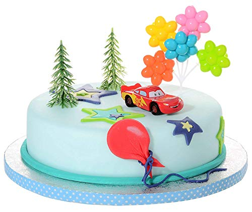 Modecor- Decorazioni Torta Disney Cars, Multicolore, 70547