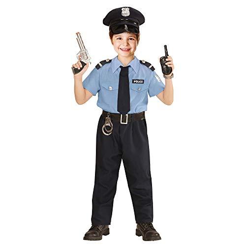 WIDMANN Poliziotto Camicia Pantaloni Cintura Cravatta Cappello Costumi Completo 861