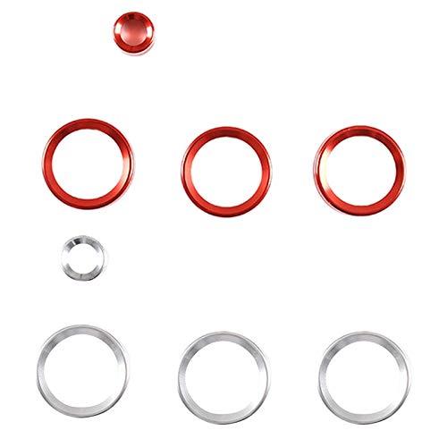 zzwllong Interruptor Buttonm, Perilla de Aire Acondicionado para Coche, Perilla de Control de Volumen, Cubierta embellecedora, para Land Rover Range Rover Evoque 12-18