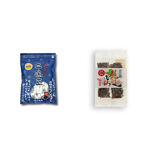 [2点セット] 飛騨 打保屋 駄菓子 三嶋豆(150g)・楽しいおにぎり 赤かぶひじき(8g×8袋)