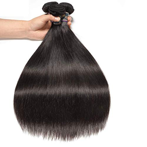 """Malaysian 9A Straight Hair 3 Bundles (14"""" 16"""" 18"""",300g) Silky Malaysian Virgin Weave Hair Human Bundles 100% Unprocessed Double Wefts Straight Human Hair Extensions 1B Color Straight Weave"""