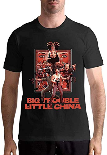 Big Trouble in Little China t Shirt Men's Black Short Sleeve Shirt,Black,6X-Large