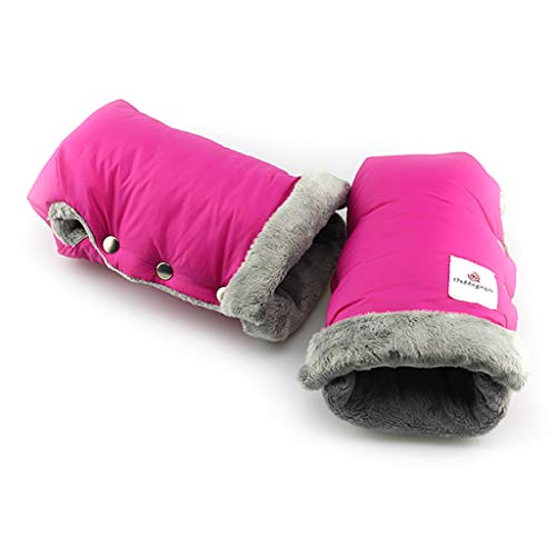 WDFVGEE Guantes de invierno cálidos para cochecito de bebé, impermeables, calientan las manos en invierno para calentarte