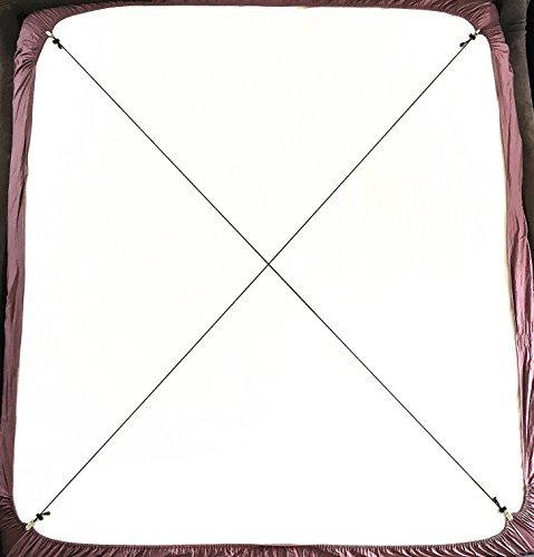 2er Verstellbarer Kreuz Und Quer Bettlaken Spanner Betttuchspanner Spannbettlakenhalter, Schwarz A