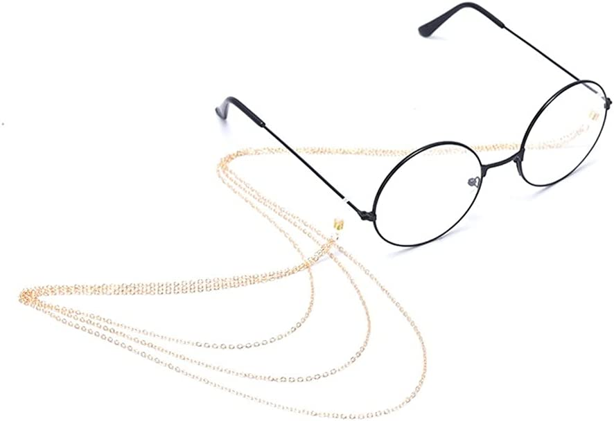 XJJZS 1pcs Metal Non-Slip Glasses Chain Eyeglass Lanyard Sunglasses Necklace Cord Neck Strap Holder Eye wear Accessories (Color : A)