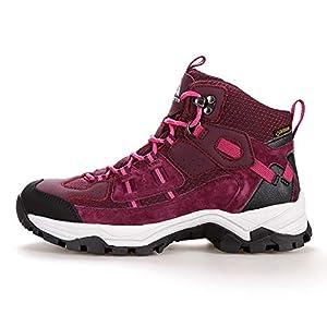 Hiking Boot Women Waterproof Lightweight Outdoor Climbing Trekking Shoes Red Size 8