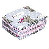 Paño de franela Babymajawelt, paños de moletón, paños de franela blanco / mezcla de colores 70 x 80 cm, tela para abrazar, en juegos de 3, 5, 10