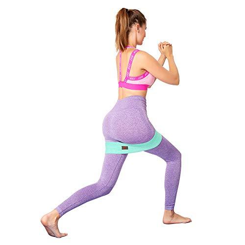 Bandas de ejercicio trenzadas antideslizantes, banda de resistencia de 3 niveles, ejercicio para sentadillas y hermosas nalgas, juego de 3