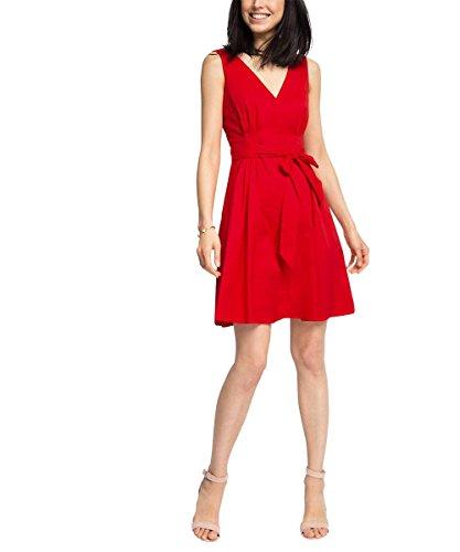 ESPRIT Collection Damen 046EO1E019-Mix Kleid, Rot (RED 630), 42