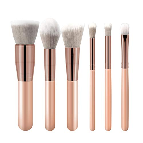 Make Up Pinselset Kosmetikpinselset Gesichtspinsel Foundation Augen Lippen Pinsel Vegan 6-Pieces Schminkpinsel Brush Set