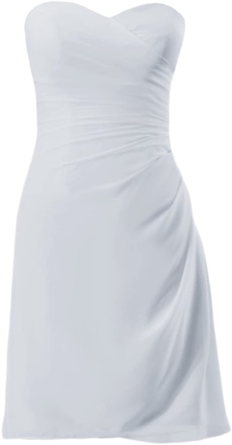 DaisyFormals reg; Beach Wedding Party Dress Strapless Knee Length Dress (BM1829)