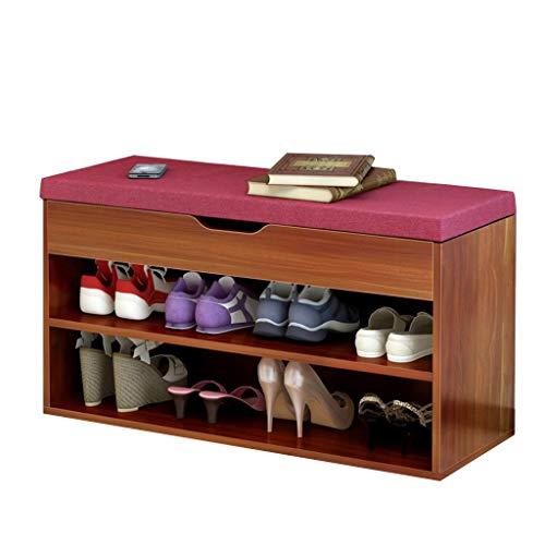 Zapatero simple Gabinete hogar moderno zapato Banco consola Gabinete de almacenamiento práctico de diseño de la comodidad respirable de carga 80 kg Tamaño: Longitud los 80cm * 30cm * Anchura Altura 45