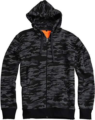 Alpha Industries X-Fit Zip Hoodie Schwarz/Camouflage XL