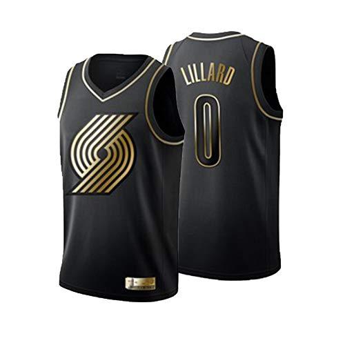 UIQB Jersey de Baloncesto Kobe Lakers # 24 Jersey, versión Negra y Dorada de la Camiseta de Baloncesto de Malla Bordada de Jersey, Secado rápido de Fibra 100% poliéster. Black Gold 0-M