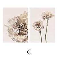キャンバスの壁の芸術、ベージュのキャンバスの絵画のポスターの現代乾燥したプロテア咲く花はフレームなしの写真を印刷します