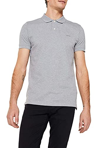 ESPRIT Herren Classic Piqué Poloshirt, 035/MEDIUM Grey-New Version, L