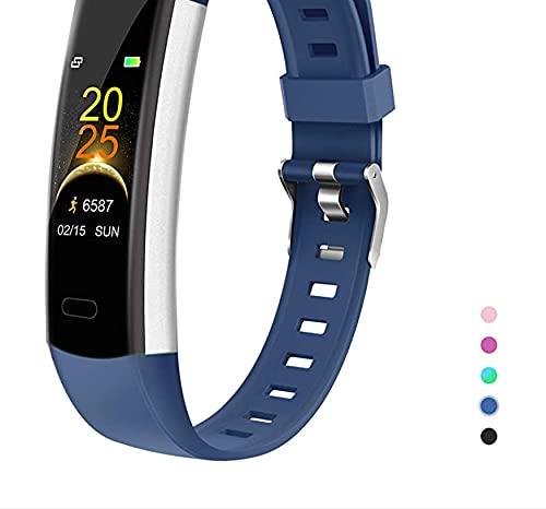 Reloj Fitness Tracker con Monitor de frecuencia cardíaca, Reloj Deportivo de Salud para niños con Contador de calorías, podómetro, Monitor de sueño para Mujeres, Hombres y niños