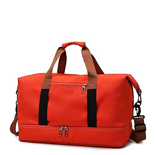 YYDM Bolsa de viaje para mujer, impermeable, de gran capacidad, para fin de semana, bolsa de viaje ligera, color rojo