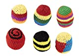 Hacky Sack, Crochet Knitted Designs (6-Pack)