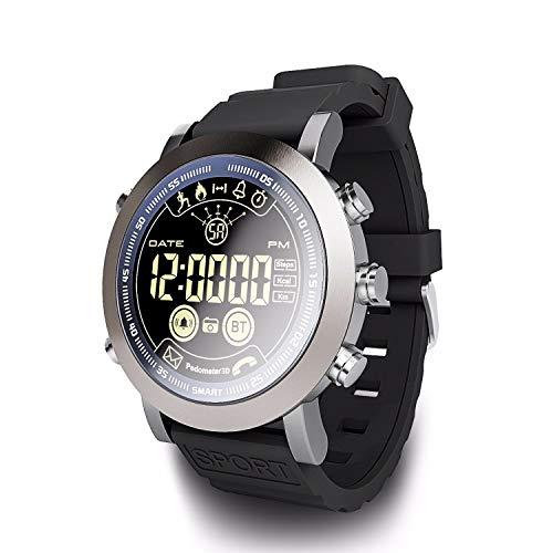 IP68 Reloj Inteligente a Prueba de Agua Vista Completa Pantalla Redonda Rastreador de Ejercicios Deportivos En Espera Prolongada Pulsera Inteligente con batería Recordatorio de Llamada Alerta