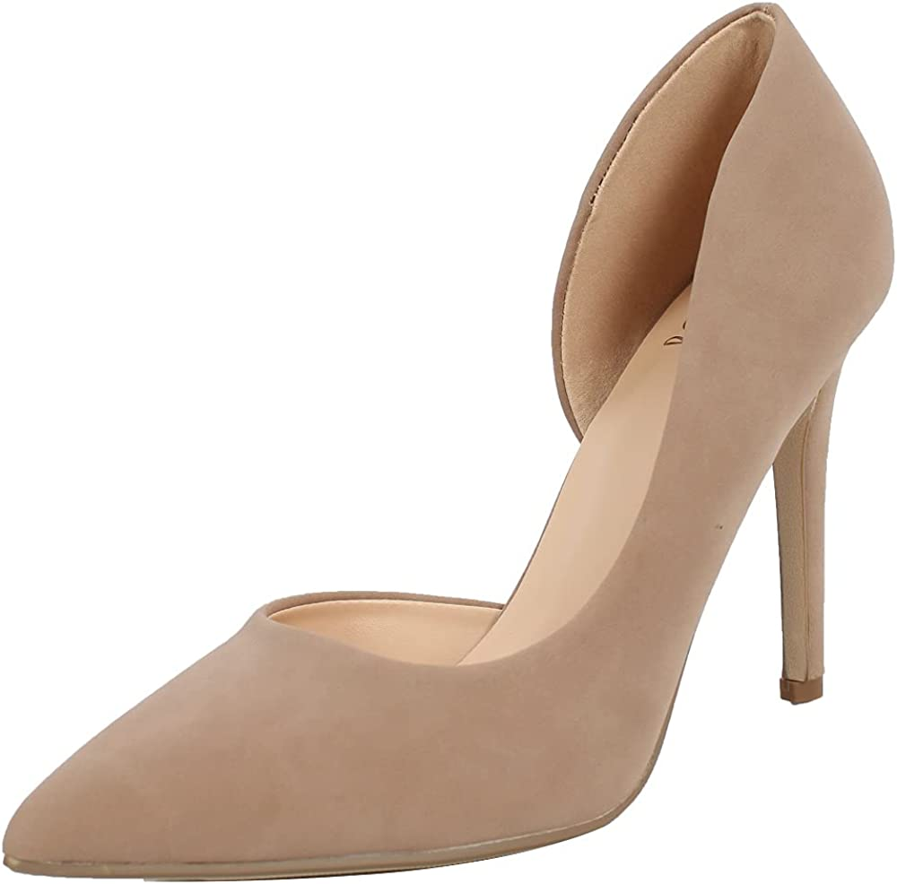 Delicious Women's Max 48% Cheap SALE Start OFF Pointed Toe Side Heel Cut Dress Pump Out