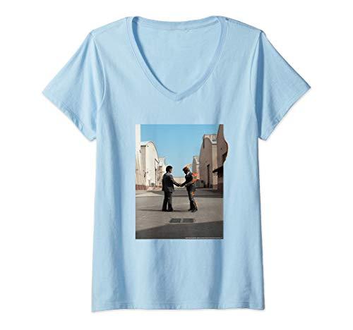 Mujer PINK FLOYD WISH YOU WERE HERE Camiseta Cuello V