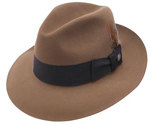 Stetson Temple Fur Felt Fedora Hat-…