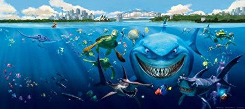 1art1 Findet Nemo - Nemo, Dorie, Bruce Und Andere Fototapete Poster-Tapete 202 x 90 cm