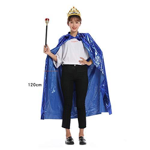 HMShun Cape voor Halloween, kostuum voor koning volwassenen, kleding, teepkroon voor kinderen, kleding en accessoires Princesse Bleue