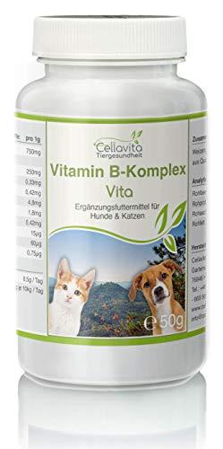 Cellavita Vitamin B-Komplex (Weizengras + Quinoa-Keimlingen) - für Hunde & Katze (50g)