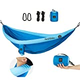YAHILL Inflatable Camping Hammock with Tree Straps for 2 Person, Vacation Accessories, Heavy Duty, Lightweight Large Size 210T Nylon Double Parachute Hanging Hammocks with Rope for Outdoor & Indoors