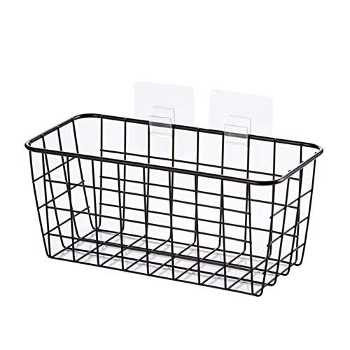 DGHSB Mensole di deposito, Appeso a Parete Rack Shelf Storage Cucina Rack Basket Bagno Storage Box Ripiani Trucco dell'organizzatore di immagazzinaggio Mensola 2PCS 5KG (Colore : 1PCS Black)