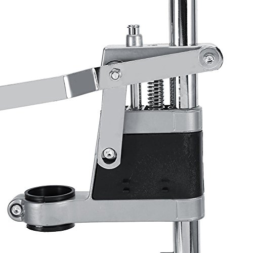 Adjustable Drill Press Stand, Universal Vertical Drill Press Table Benchtop Clamp Support Tool Single Hole Aluminum Base for Drill Workbench Repair Tool