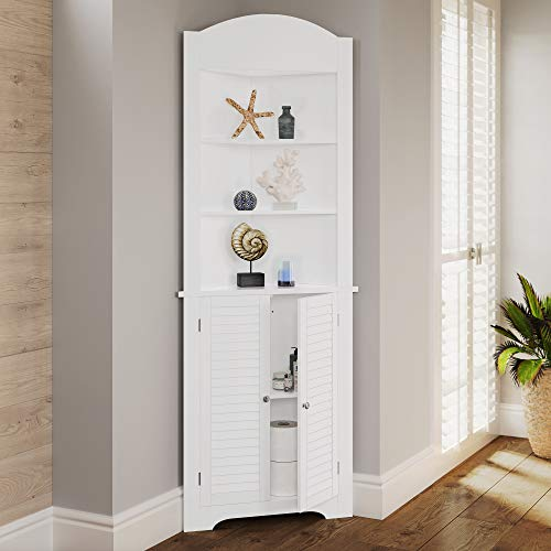RiverRidge Ellsworth Collection Tall Corner Cabinet, White