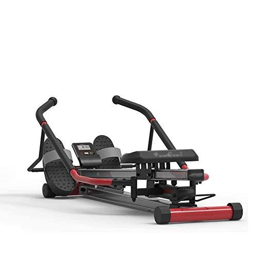 LKNJLL Pieghevole Vogatore, for Divertimento e Fitness Multifunzione Vogatore, in Lega di Alluminio a Doppia Guida di Guida, Sospensione a Remi Dispositivo (Color : Red)