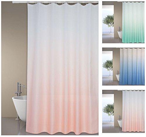 """MSV Premium Anti-Schimmel Textil Duschvorhang - Anti-Bakteriell, waschbar, 100% wasserdicht, mit 12 Duschvorhangringen - Polyester, """"Sugar"""" Rosa 180x200cm"""