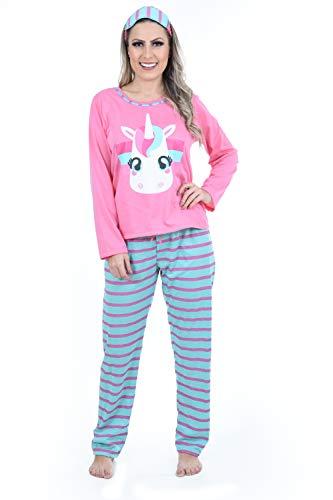 Pijama Ayron Fitness Unicórnio Adulto Mãe Feminino (GG)