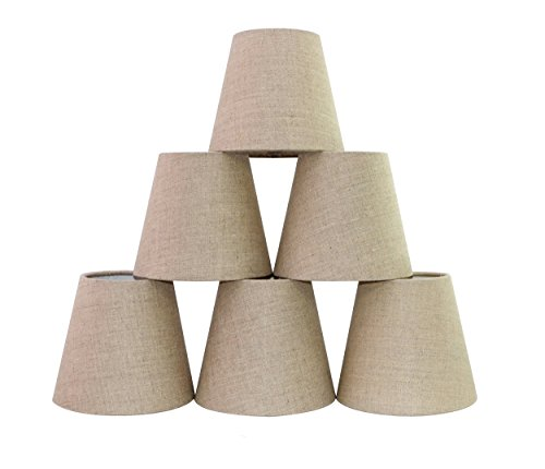Doooitlight set di 6 paralumi a clip per lampade e lampadari classico grau