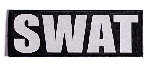 Ultra Reflective SWAT Hook and Loop Patch (8.5x3 inch)