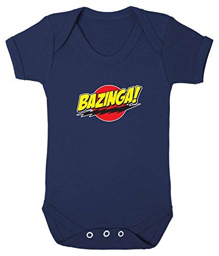 Badass Babies Bazinga Strampler Gr. 12-18 Monate, navy
